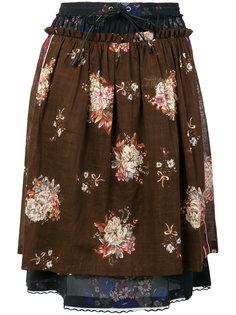 многослойная юбка с цветочным принтом  Coach