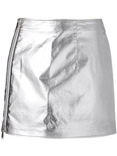 мини-юбка металлик Paco Rabanne