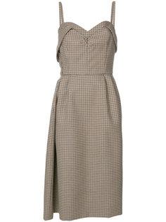 клетчатое приталенное платье Nº21