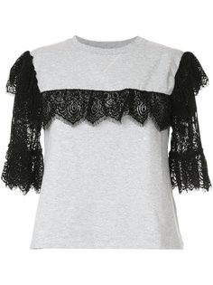 lace detail T-shirt Giamba