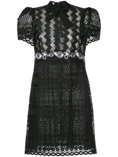 кружевное платье с завязкой на бант Giamba
