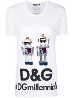 футболка с роботами  Dolce & Gabbana
