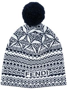 вязаная шапка с помпоном Fendi