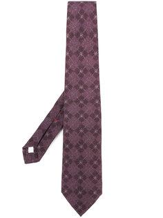 галстук с ромбовидным узором Isaia