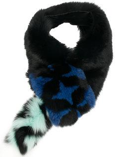 меховой шарф Fendi
