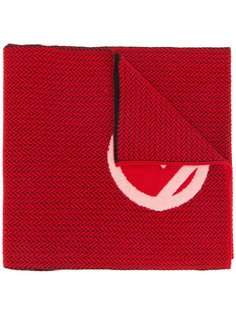 шарф с нашивкой логотипа Fendi