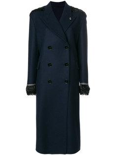 двубортное пальто с отделкой бисером  Ermanno Scervino