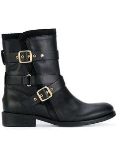 байкерские ботинки с ремешками  Tommy Hilfiger