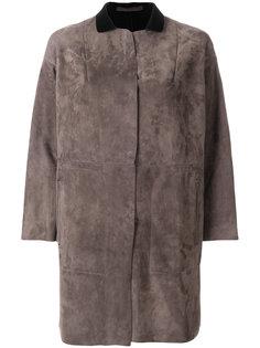 пальто со вставками с заниженной линией плеч  Salvatore Santoro