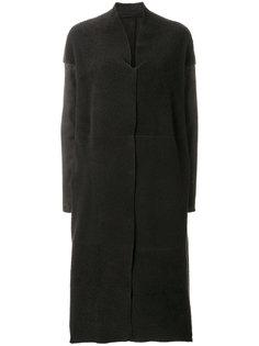длинное пальто со спущенными плечами Salvatore Santoro