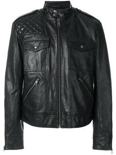кожаная куртка с воротником-стойкой Just Cavalli