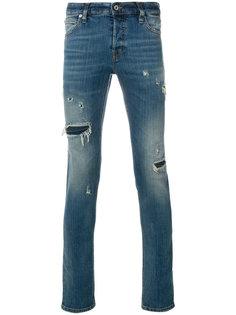 джинсы скинни с рваной отделкой Just Cavalli