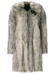 пальто с искусственным мехом Helmut Lang