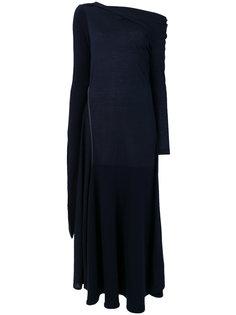 платье с открытыми плечами и прямым вырезом  Victoria Beckham