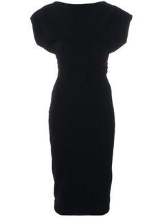 приталенное платье с короткими рукавами  Victoria Beckham
