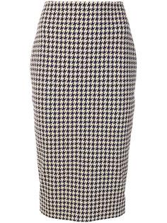 жаккардовая юбка миди  Victoria Beckham