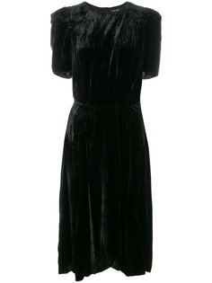бархатное платье миди  Isabel Marant