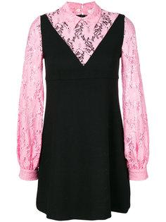 многослойное кружевное платье-рубашка  Vivetta