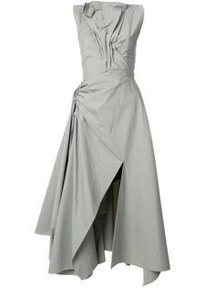 асимметричное платье со сборкой  Maticevski