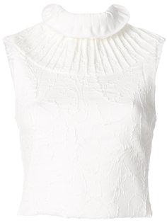 фактурная плиссированная блузка  Maticevski