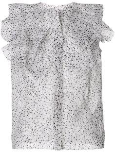полупрозрачная блузка с принтом  Maticevski