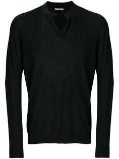 пуловер с V-образным вырезом Nuur