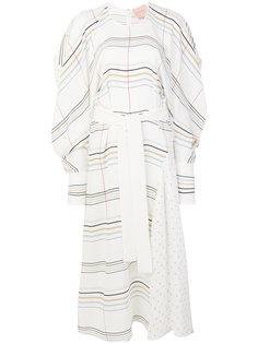 платье макси с контрастным узором  Roksanda