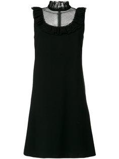 платье с высоким воротом без рукавов  Chloé
