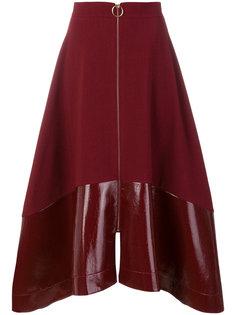 расклешенная юбка на молнии  Roksanda