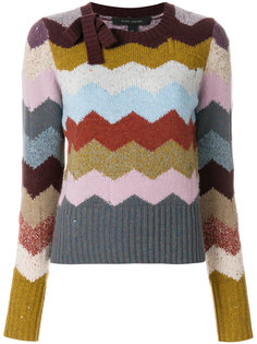 кашемировый свитер с узором шеврон Marc Jacobs
