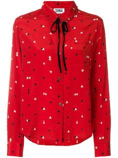 блузка с игральными картами  Sonia By Sonia Rykiel