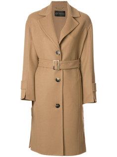 свободное пальто с поясом  Versace