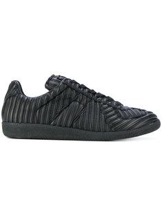 фактурные кроссовки с полосками Maison Margiela