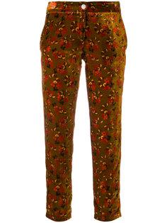 укороченные брюки с цветочным принтом Roseanna