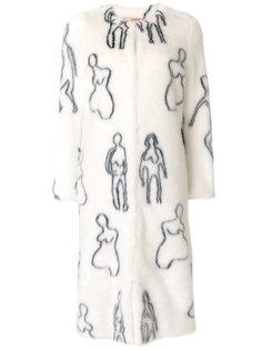 пальто из искусственного меха Callum Shrimps
