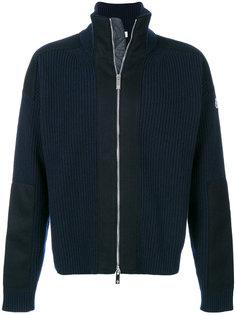 свитер с ребристой фактурой на молнии Moncler