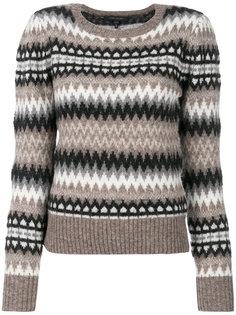 свитер с объемными рукавами и принтом фэр-айл  Marc Jacobs