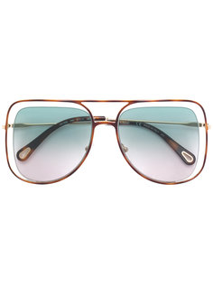 солнцезащитные очки с эффектом незакрепленных линз Chloé Eyewear
