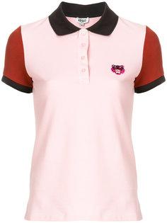 рубашка-поло колор блок с тигром  Kenzo