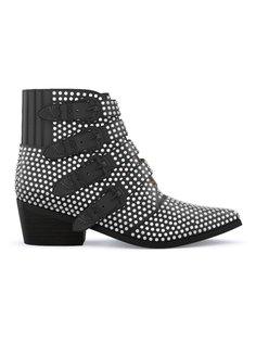 ботинки с заклепками и пряжками Toga Pulla