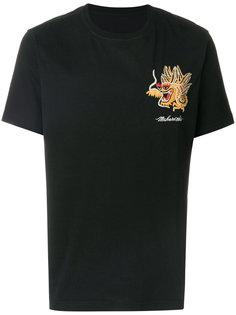 футболка с вышитым драконом Maharishi