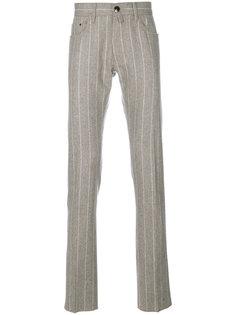 классические полосатые брюки Jacob Cohen