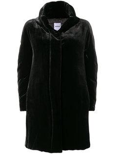 бархатное пальто-парка  Aspesi