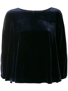 бархатная блузка с укороченными рукавами  Aspesi