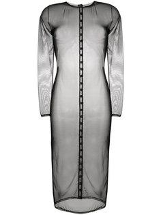 прозрачное платье-миди Murmur