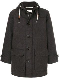 однобортное пальто с капюшоном Universal Works