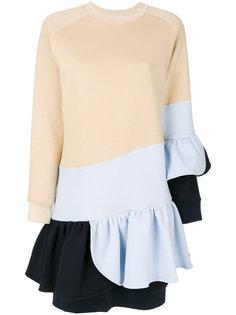 """платье дизайна """"колор-блок"""" с оборочной отделкой Ioana Ciolacu"""
