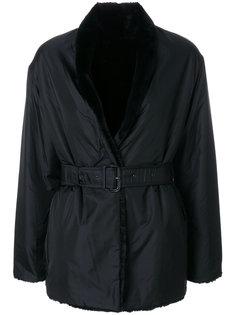 короткое пальто-тренч с поясом  Aspesi