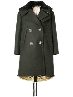 двубортное пальто в стиле оверсайз Nº21