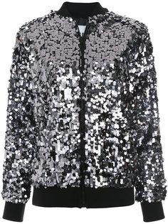 куртка-бомбер  с пайетками MSGM